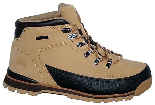 Botas de trabajo, puntera de acero, tapas, con suela de encaje, para mujer: Amazon.es: Zapatos y complementos