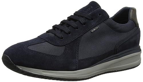 Geox U Dennie A, Scarpe da Ginnastica Basse Uomo, Blu (Navy), 39 EU