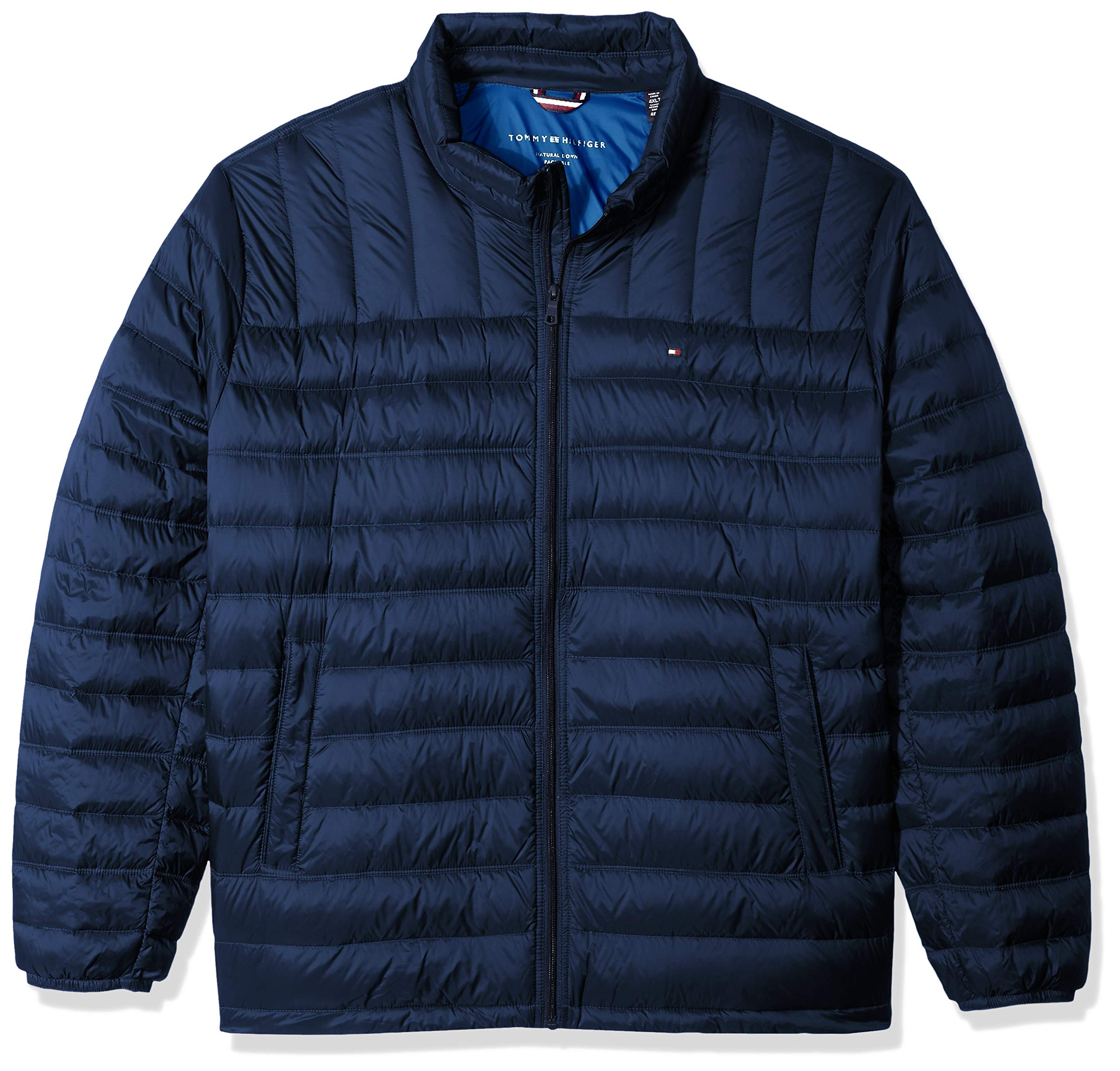 Tommy Hilfiger Men's Packable Down Jacket (Regular and Big & Tall Sizes), New Navy, LONG TALL