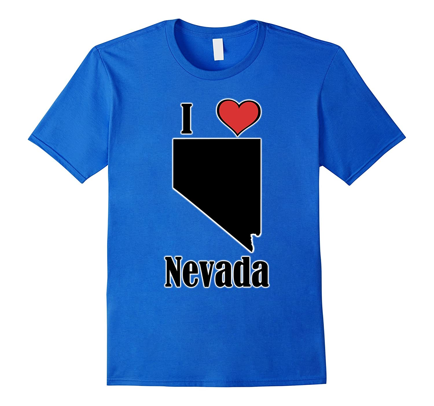 I Love Nevada Souvenir T-Shirt State Shape-TH