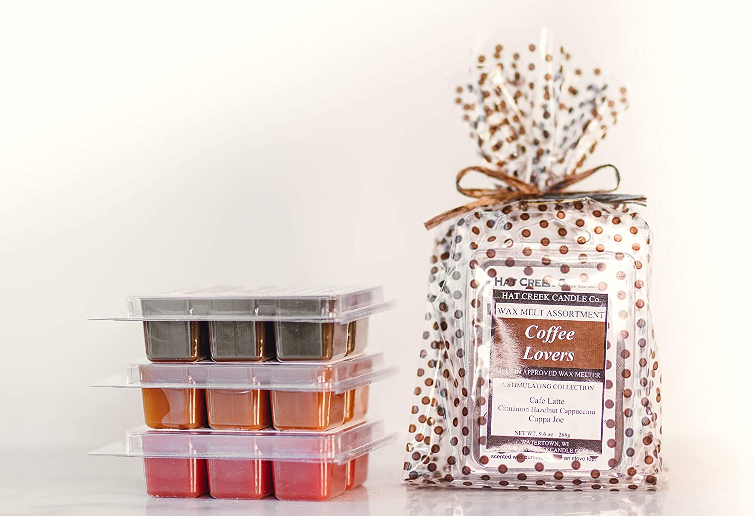 Coffee Lover's Melty Cube Scented Wax Melts: Cuppa Joe, Cinnamon Hazelnut Cappuccino, Cafe Latte