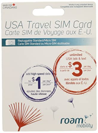 Amazon.com: USA Travel SIM Card (Unlimited Talk+text From $3 ...