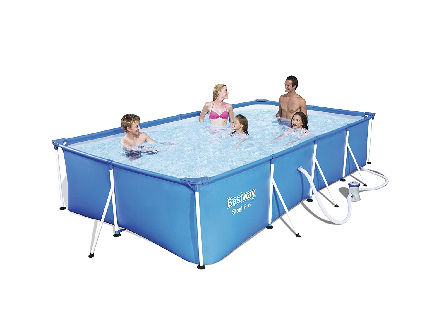 Piscina desmontable 400x211x81 56082 for Piscinas bricoking