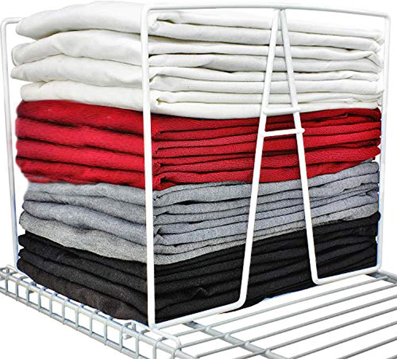 2x//pack Closet Shelf Dividers Wardrobe Partition Shelves Divider Clothes Shel Q