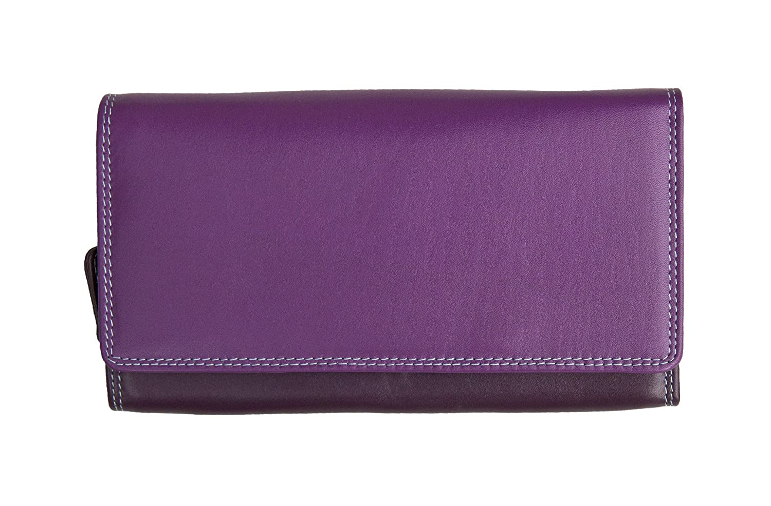 005794fc1 Wombat Ladies Large Multi-Colour Leather Matinee Purse Purple Sweet Violet:  Amazon.co.uk: Shoes & Bags