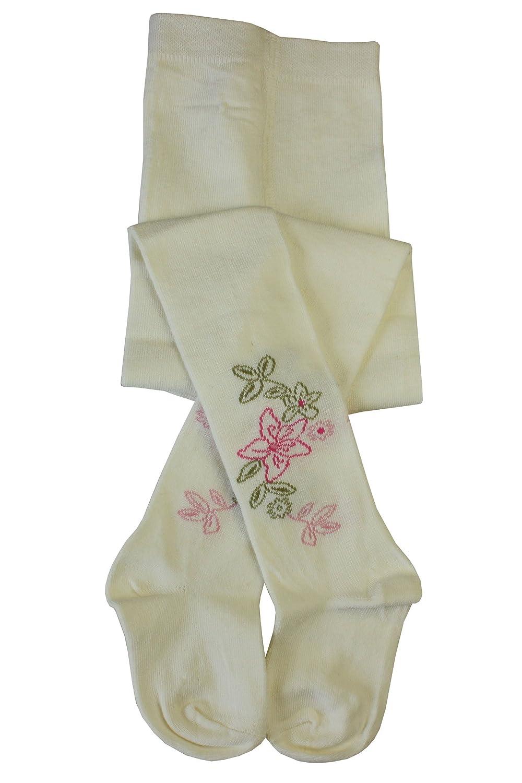 Flower Pattern Cream Weri Spezials Baby and Children Tights