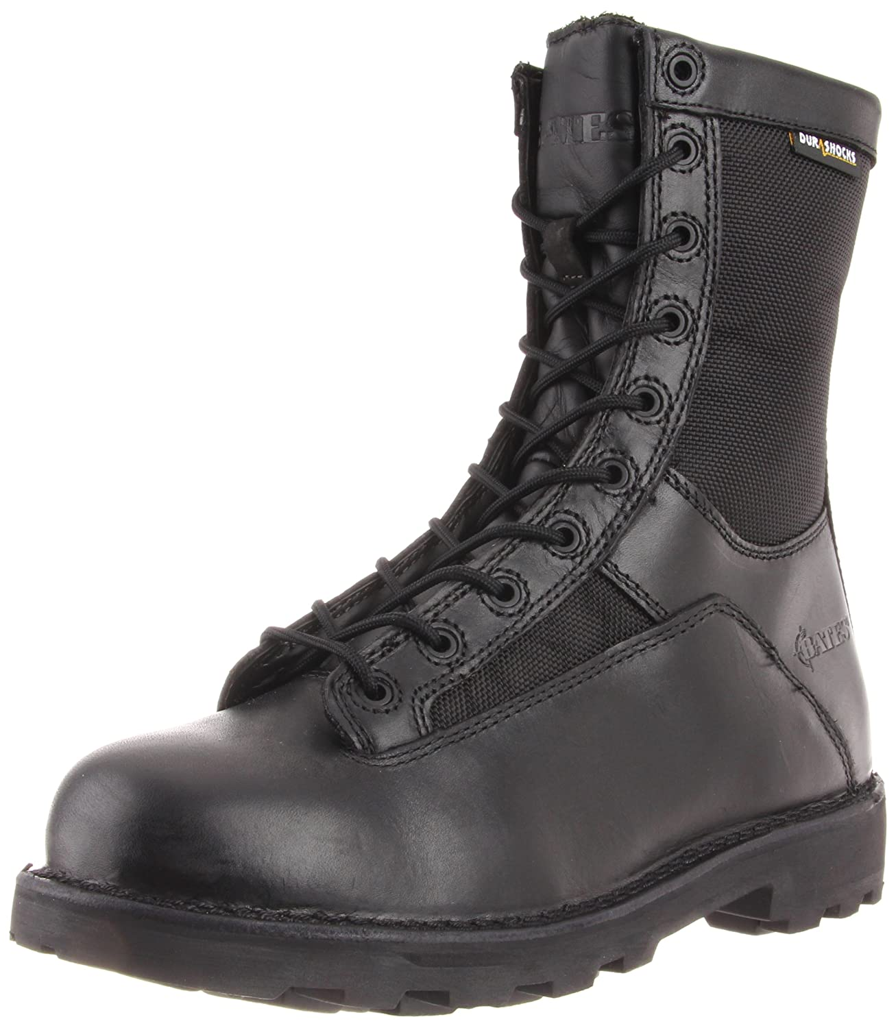 Bates Men's 8 Inches Durashocks Lace-to-Toe Work Boot Bates Tactical Footwear DEFENDER 8 ZIP BOOT-M