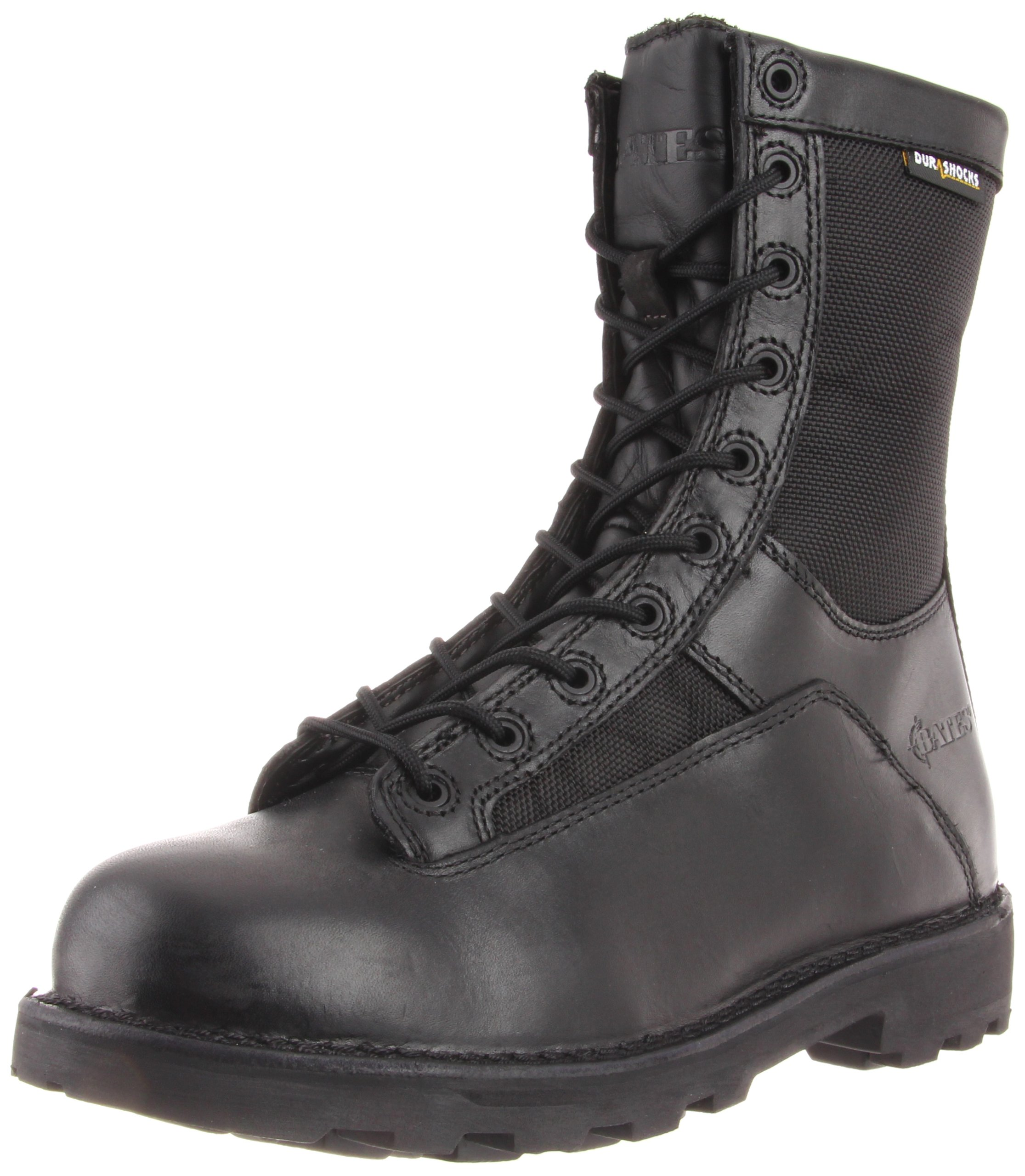 Bates Men's 8 Inches Durashocks Lace-to-Toe Work Boot, Black, 11 EW US