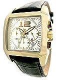 Lip Style - 1059422 - Montre Homme - Quartz Analogique - Cadran Blanc - Bracelet Cuir Marron