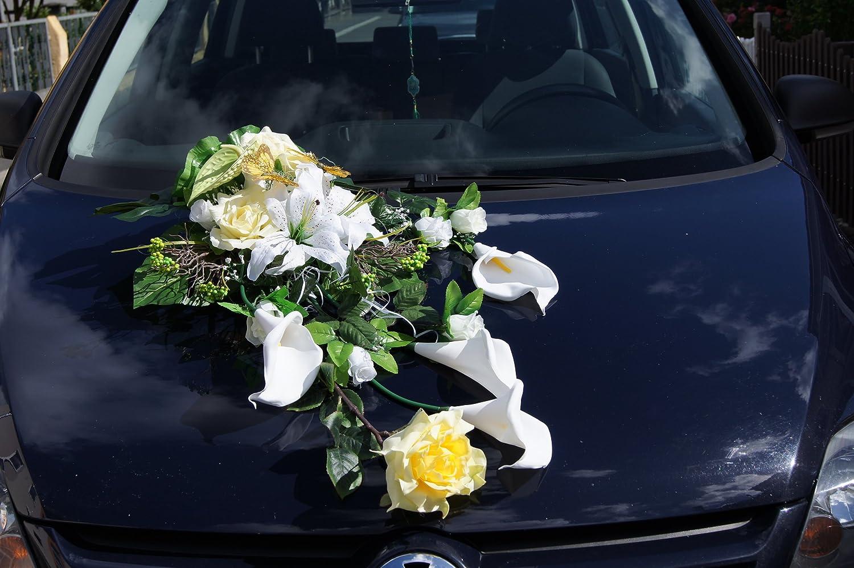 Amazon.de: Autoschmuck Autogirlande Rosen Hochzeit Auto Braut Auto ...