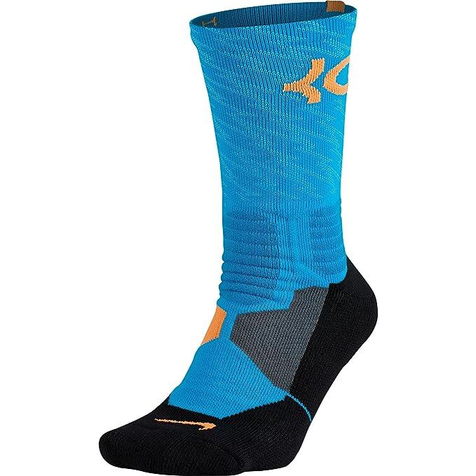 d2b4d9da0e09 Nike KD Hyper Elite Crew Men s Basketball Socks Blue Lagoon Bright Citrus  sx4972-407 (Size L)  Amazon.ca  Sports   Outdoors