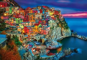 Bonus Poster Buffalo Games DAMAGED BOX NEW Cinque Terre Italy 2000 Pc Puzzle
