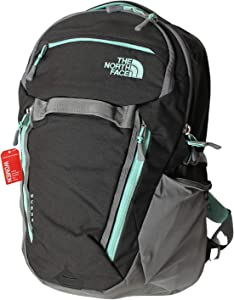 "The North Face Women's Surge Backpack School Student Laptop Bag 15"" (Zinc grey heather/surf green)"