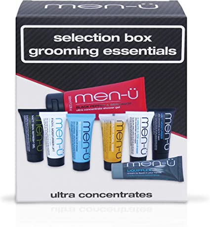 Men U Mens Gift Sets Selection Box Grooming Essentials Perfect Mens Skincare Introduction Mens Toiletries Set W The Full Ultra Concentrate Range Body Skincare Styling Gifts For Men By Men U Amazon Co Uk Beauty