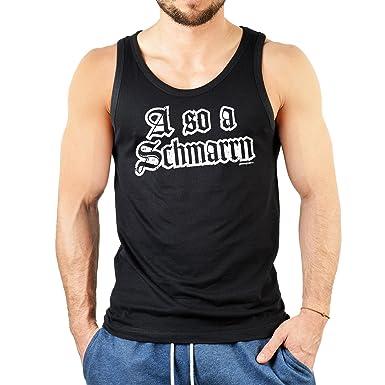 Herren Tanktop schwarz mit bayrischem Spruch - A so a Schmarrn - Fun Shirt  - Geschenkidee zum Geburtstag - Tank Top: Amazon.de: Bekleidung