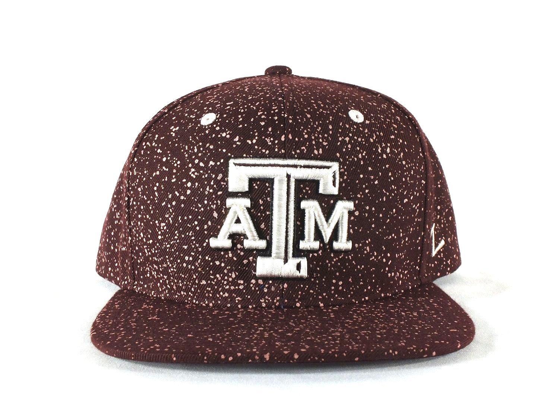ATM Aggies NCAA大人用Adj。サイズスナップバックキャップ帽子by Zephyr d100   B01F5ZWO5S
