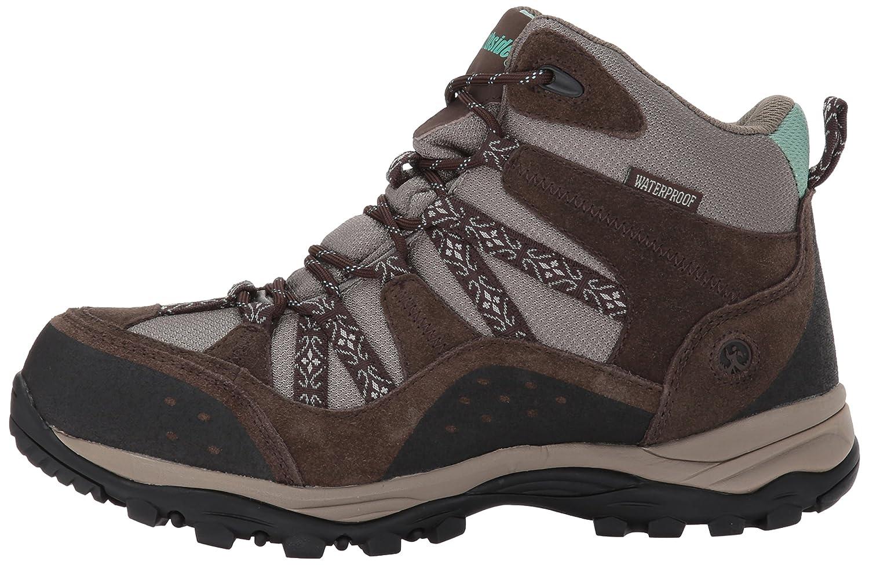 Northside Womens Freemont Leather Mid Waterproof Hiking Boot B01MYDEBEI 9.5 B(M) US|Dark Brown/Sage