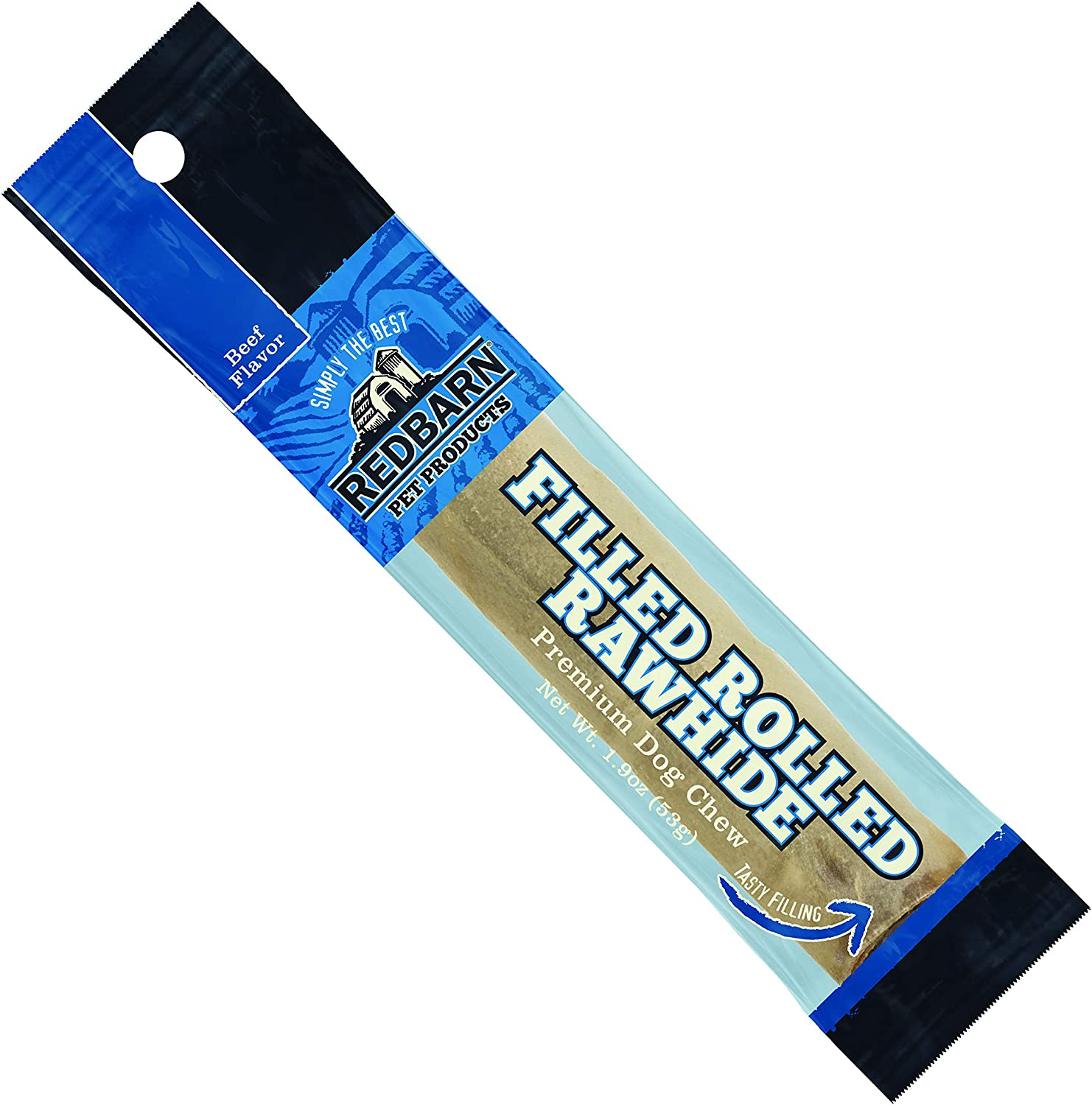 Redbarn Filled Rolled Rawhide-Beef Premium Dog Treats (1-Count)