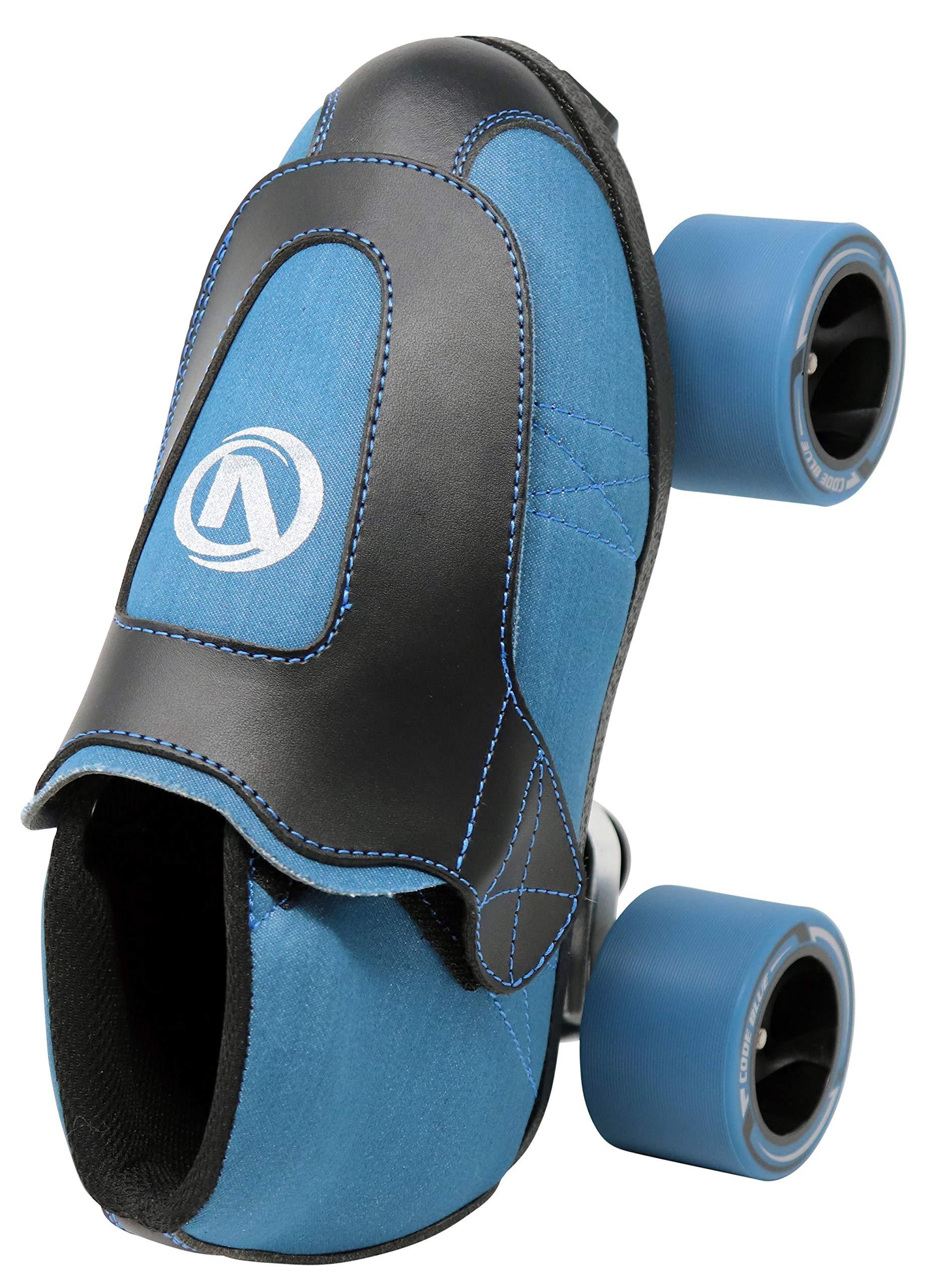 VNLA Code Blue Jam Skate - Mens & Womens Speed Skates - Quad Skates for Women & Men - Adjustable Roller Skate/Rollerskates - Outdoor & Indoor Adult Quad Skate - Kid/Kids Roller Skates (Size 4) by VNLA (Image #4)