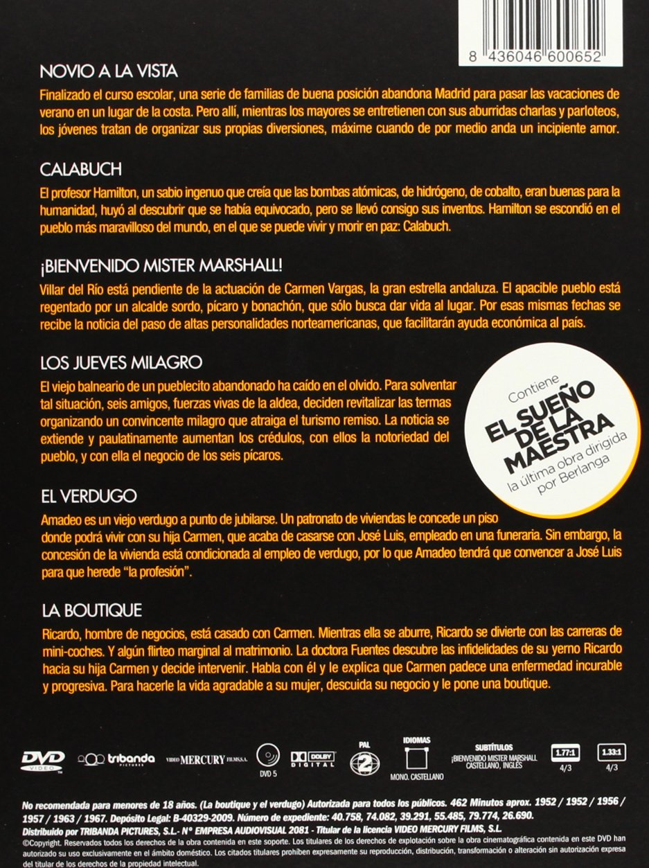 Pack Luis García Berlanga [DVD]: Amazon.es: Varios: Cine y Series TV