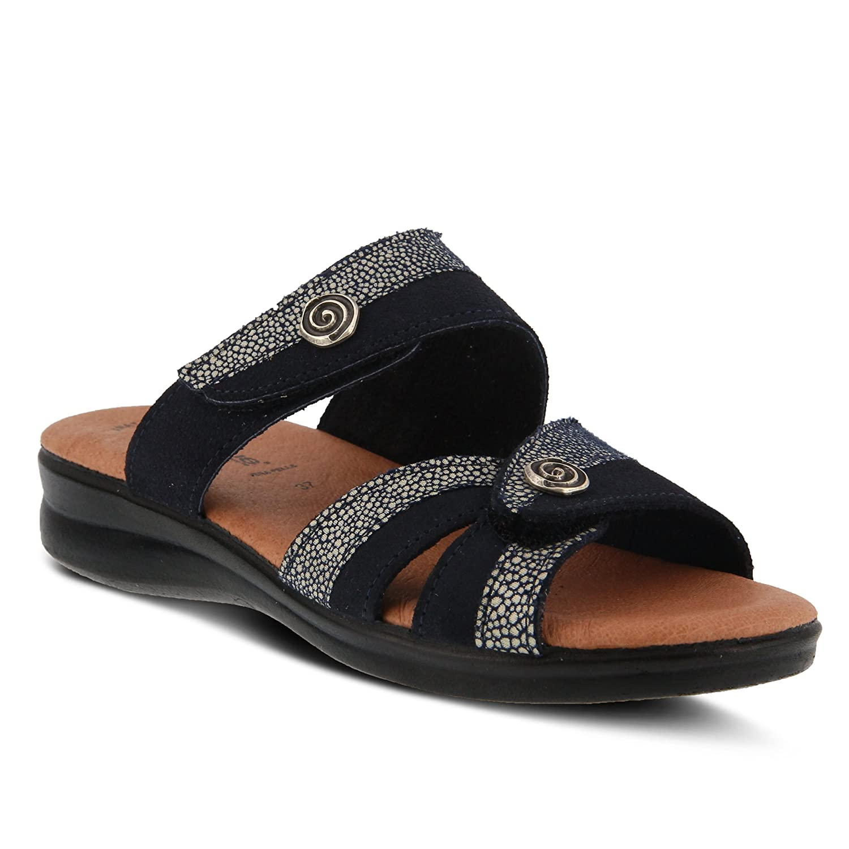 Flexus by Spring Sandal Step Women's Quasida Slide Sandal Spring B079C33MBH 38 M EU (US 7.5-8 US)|Navy Multi 955cd8