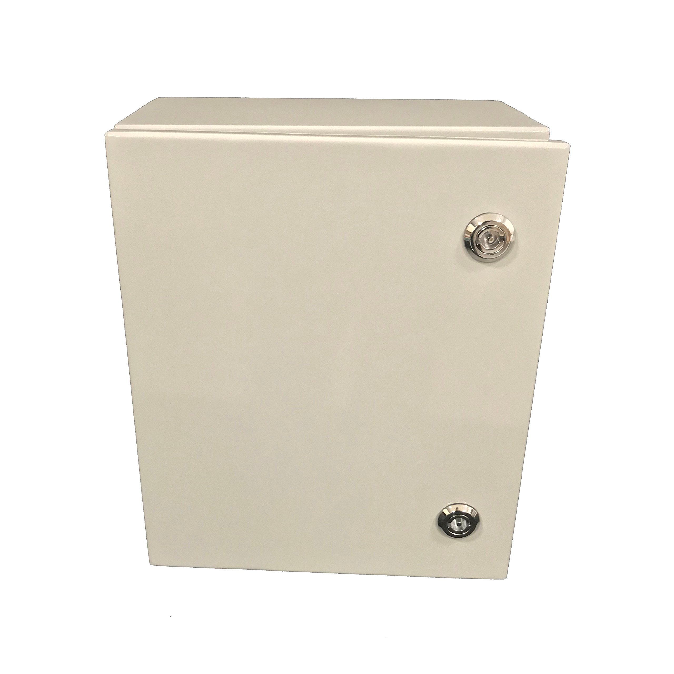 Bud Industries Stainless Steel Box- SNB Series NEMA 4 Electronic Box, Hard Shell, Water Tight Hardware for Electrical Applications. Industrial Steel Enclosure