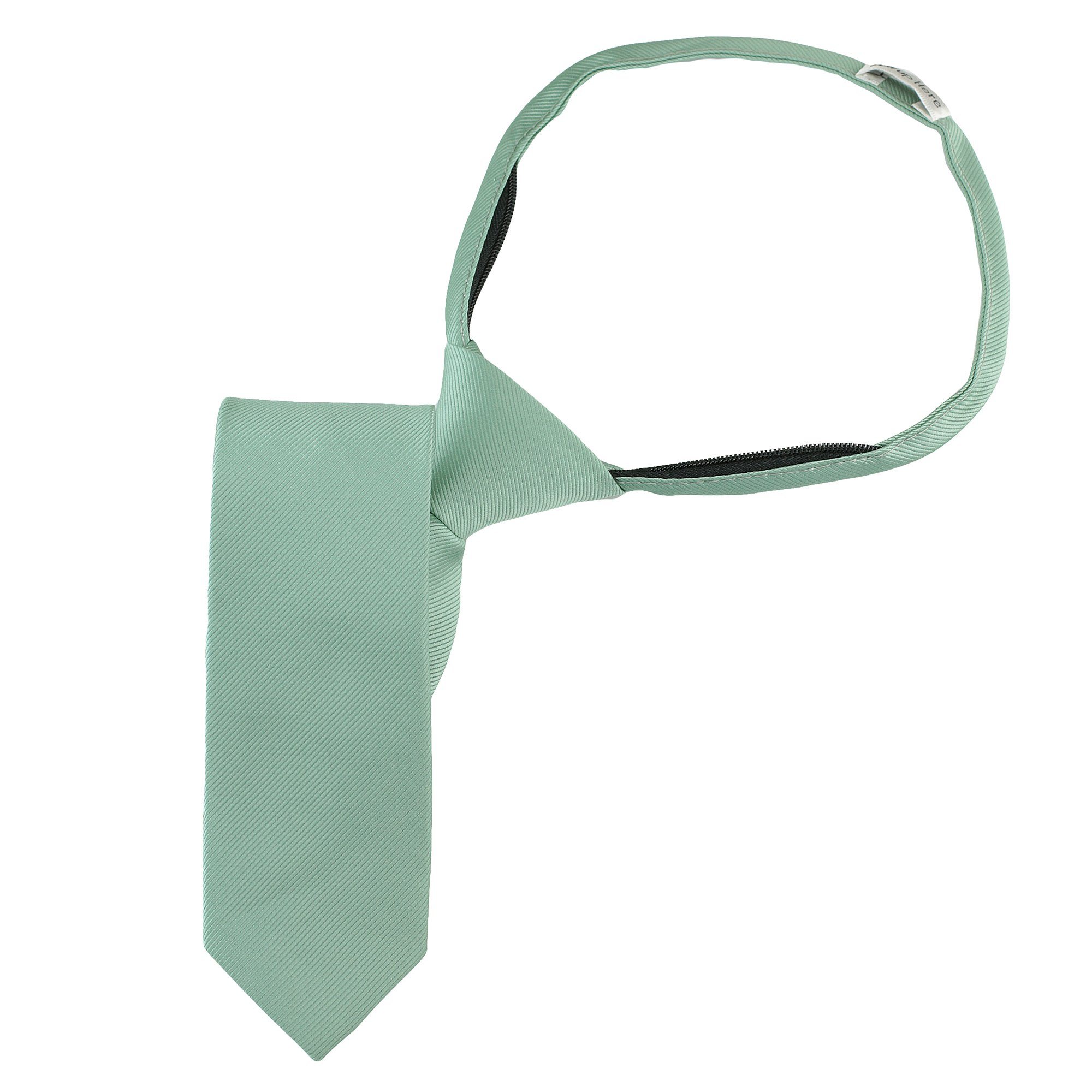 Handmade 14'' Zipper Ties For Boys Woven Boys Sea Foam Green Ties: For Kids Wedding Graduation by Luther Pike Seattle (Image #2)
