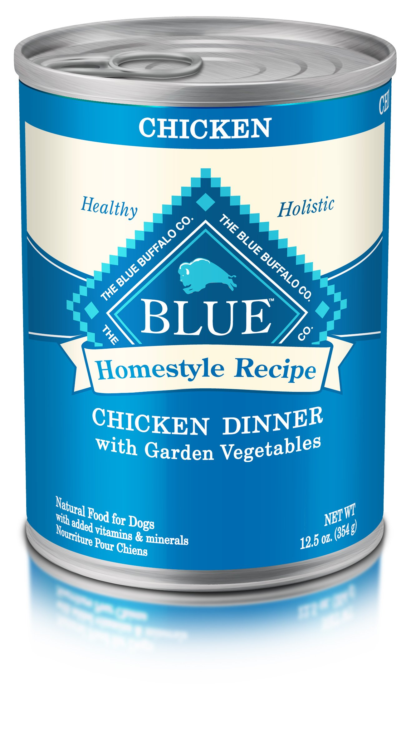Blue Buffalo Homestyle Recipe Natural Adult Wet Dog Food, Chicken Dinner, 12.5oz (Pack of 12)