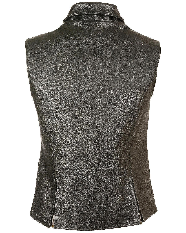 4XL Milwaukee Leather Womens Extra Long Zipper Front Vest 4X