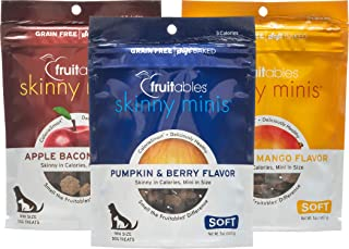 product image for Fruitables Skinny Minis Dog Treat Variety 3 Pack - 1 Apple Bacon - 1 Pumpkin & Mango - 1 Pumpkin & Berry - 5 oz Each
