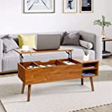 Modern Lift Top Coffee Table for Living Room - amzdeal Sturdy Lift Top Table Easier to Lift Up and close, with Larger…