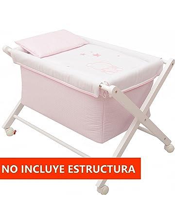 Vestidura Minicuna Tijeras mibebestore Blanco/Rosa (No Incluye Estructura)