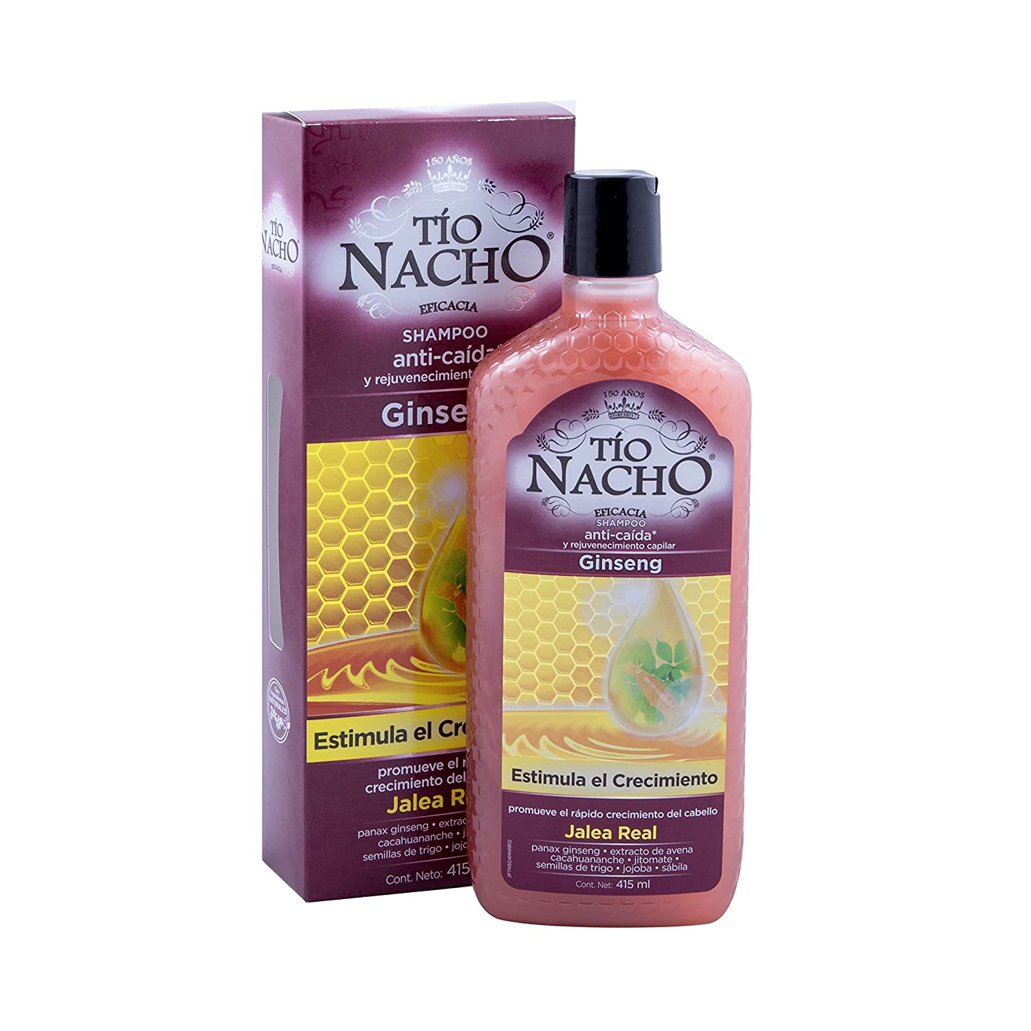 Tio Nacho Ginseng Rejuvenation and Anti-Hair Loss/Anti-caida y rejuvenecimento Dcache Gift Set