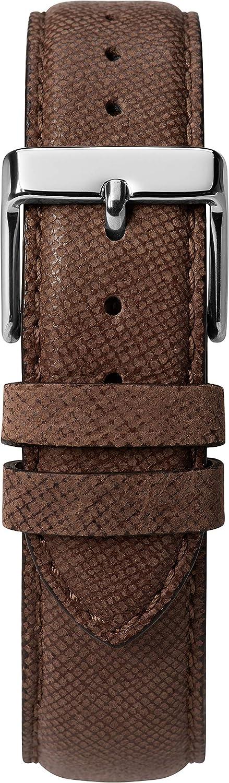 Timex herr Southview multifunktion 41 mm läderrem klocka Brown/Blue