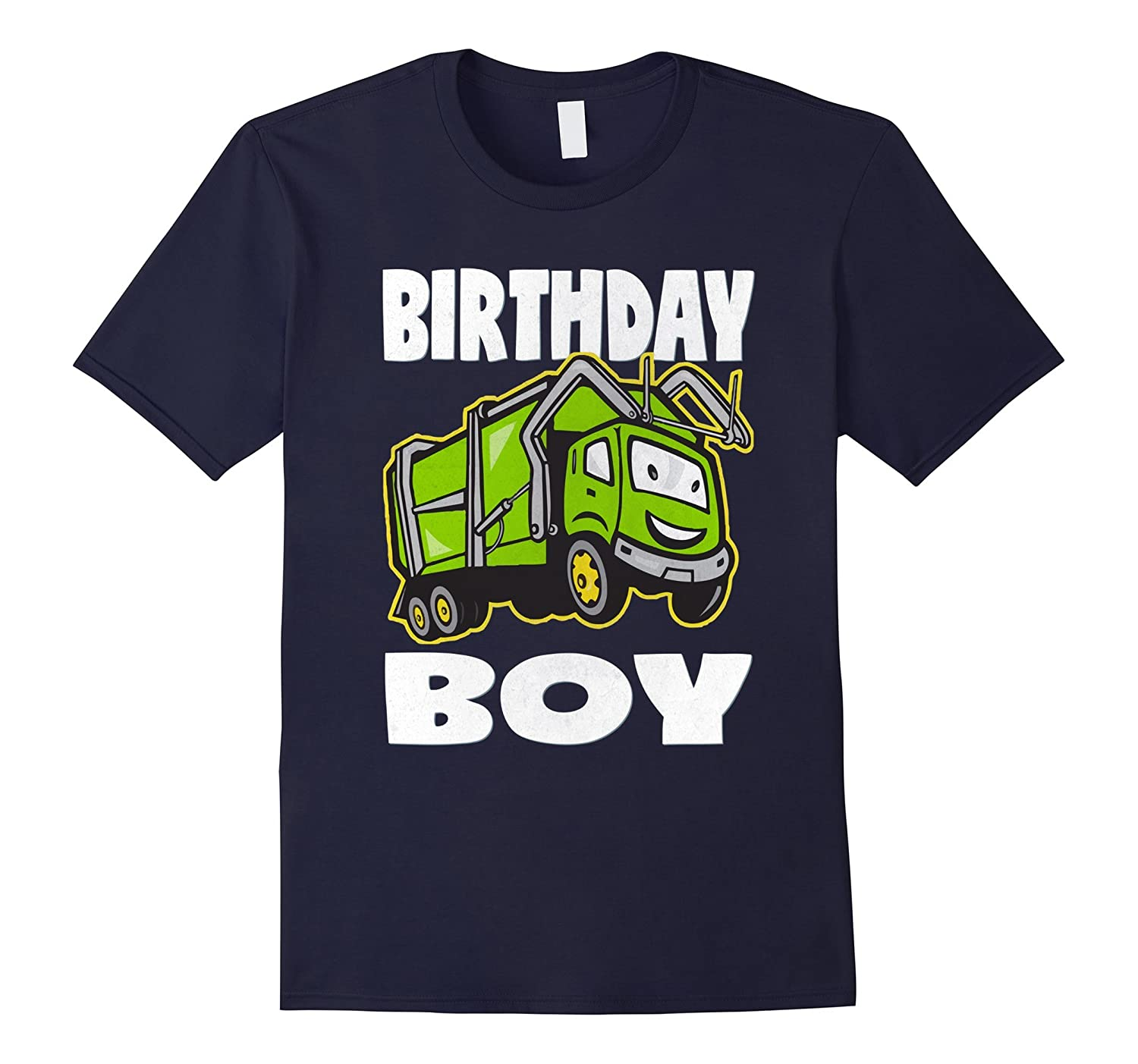 Birthday Boy Garbage Trucks Vintage Monster Truck T-Shirt-CD