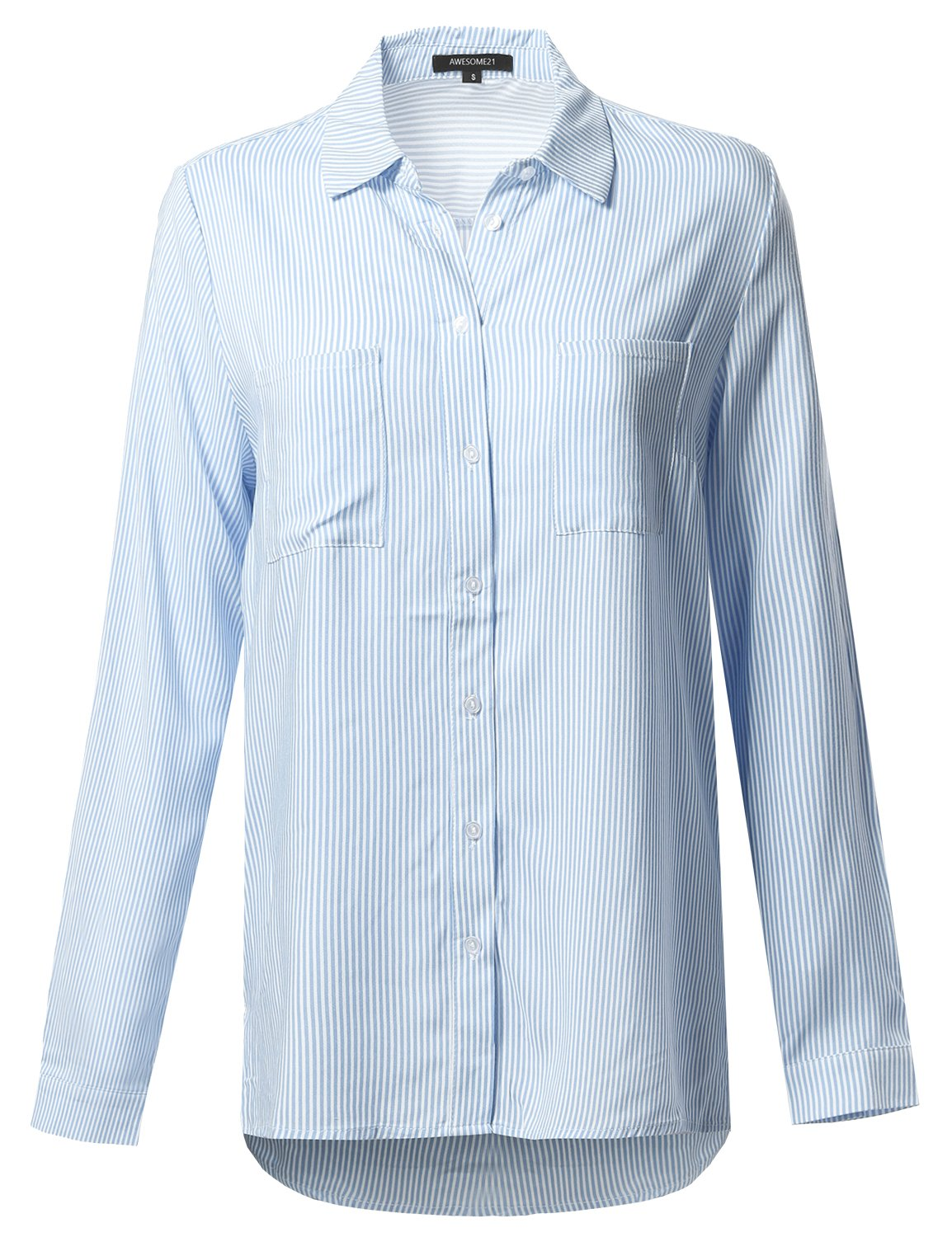 Awesome21 SHIRT レディース B072187BSF M|Aawstl0005 Light Blue White Aawstl0005 Light Blue White M