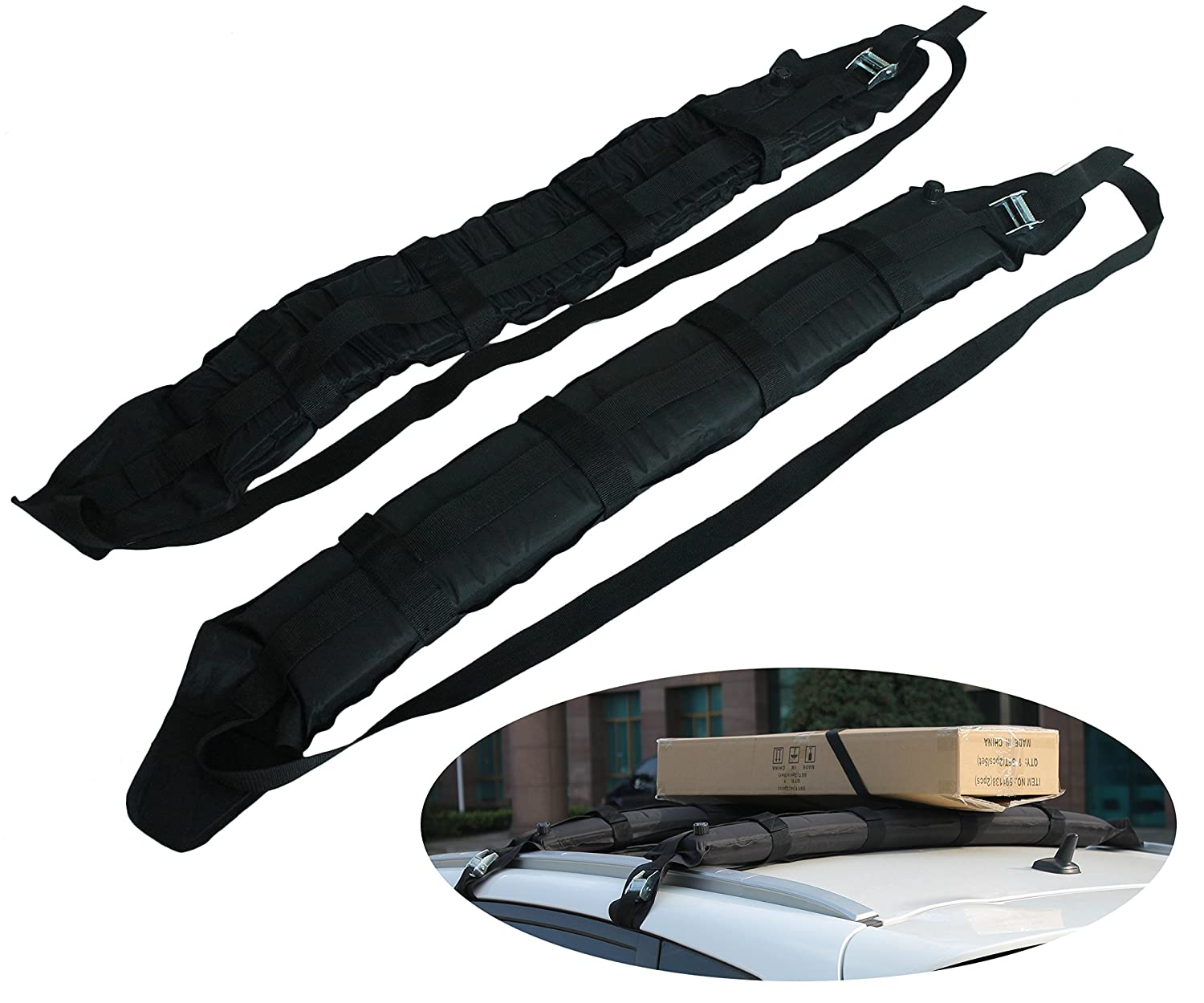 Ski Rack Kayak Paddleboard Canoe Ladder Luggage Snowboard Self Inflatable Car Roof Rack