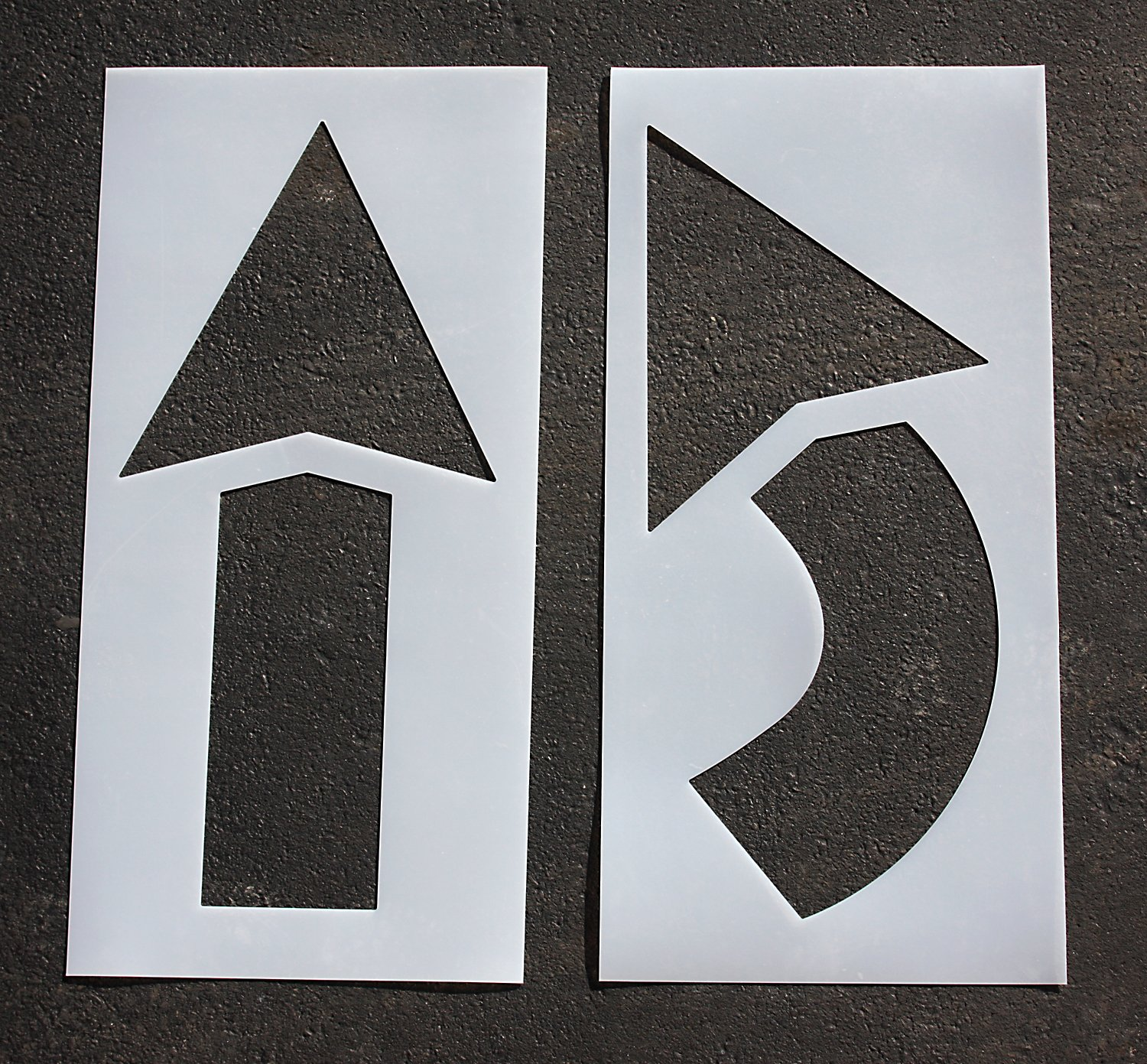 Pavement Stencil, 42 in, Arrow Kit, 1/16 by RAE