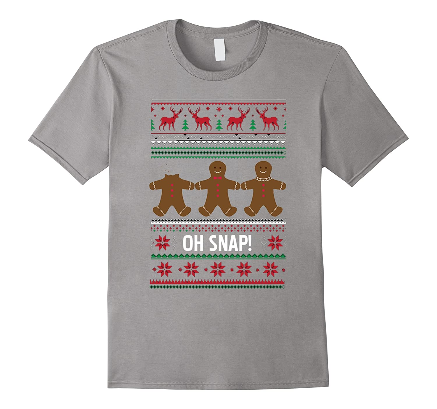 OH SNAP Gingerbread Men Ugly Christmas Sweater Style T-Shirt-ANZ ...