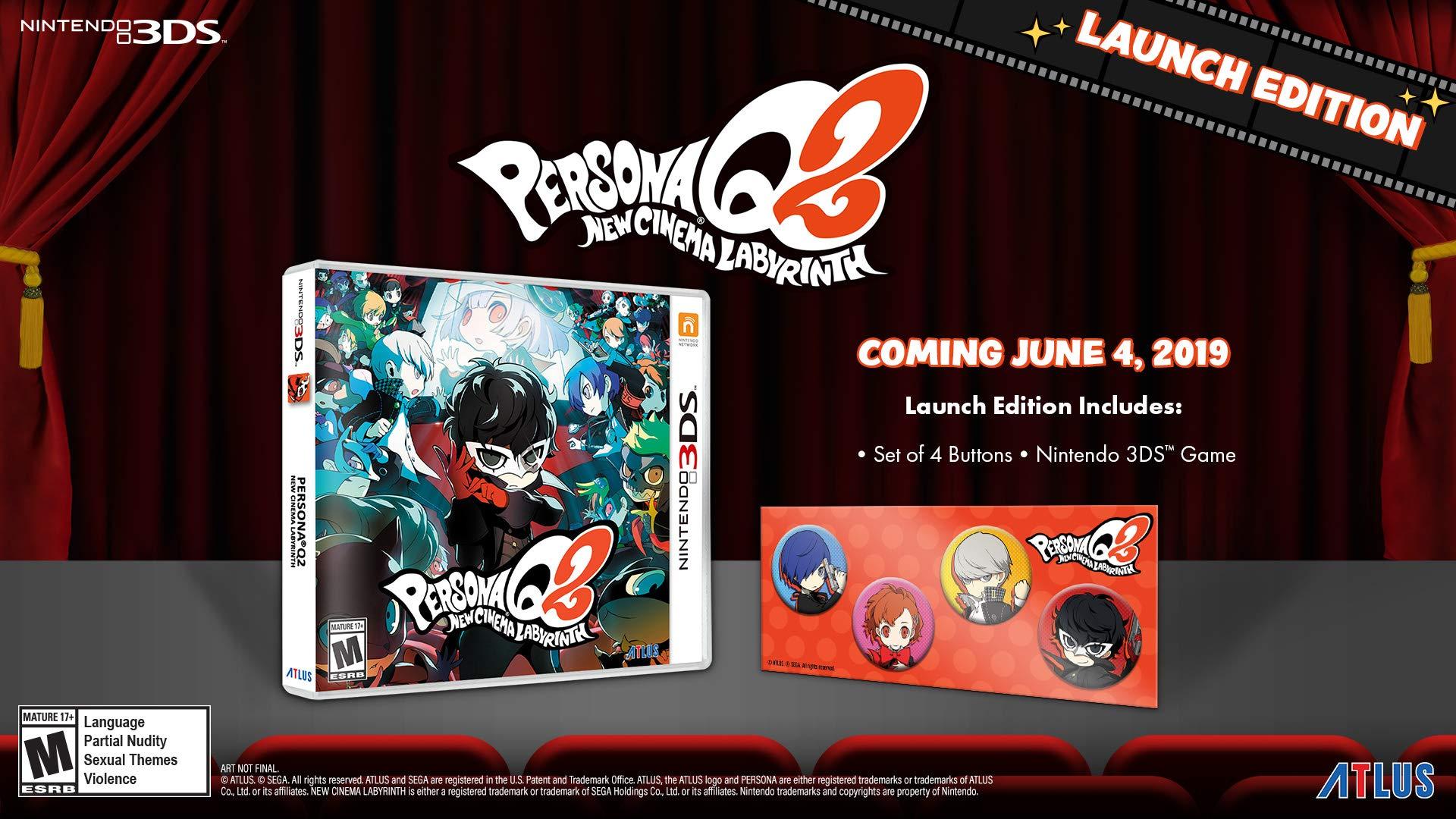 Persona Q2: New Cinema Labyrinth Launch Edition - Nintendo 3DS