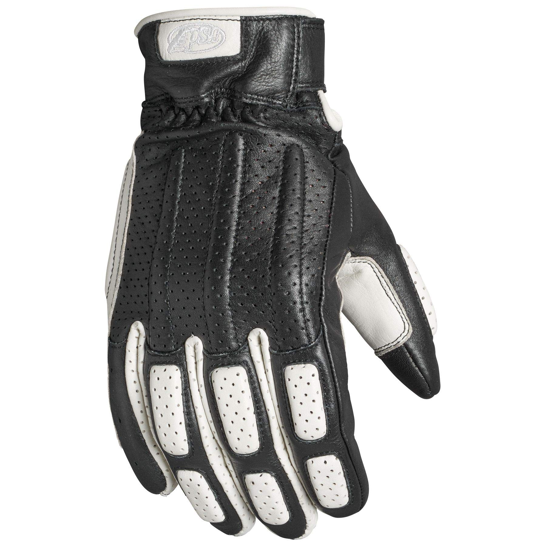 Roland Sands Design Rourke Gloves Black/White 2X-Large (More Size and Color Options)