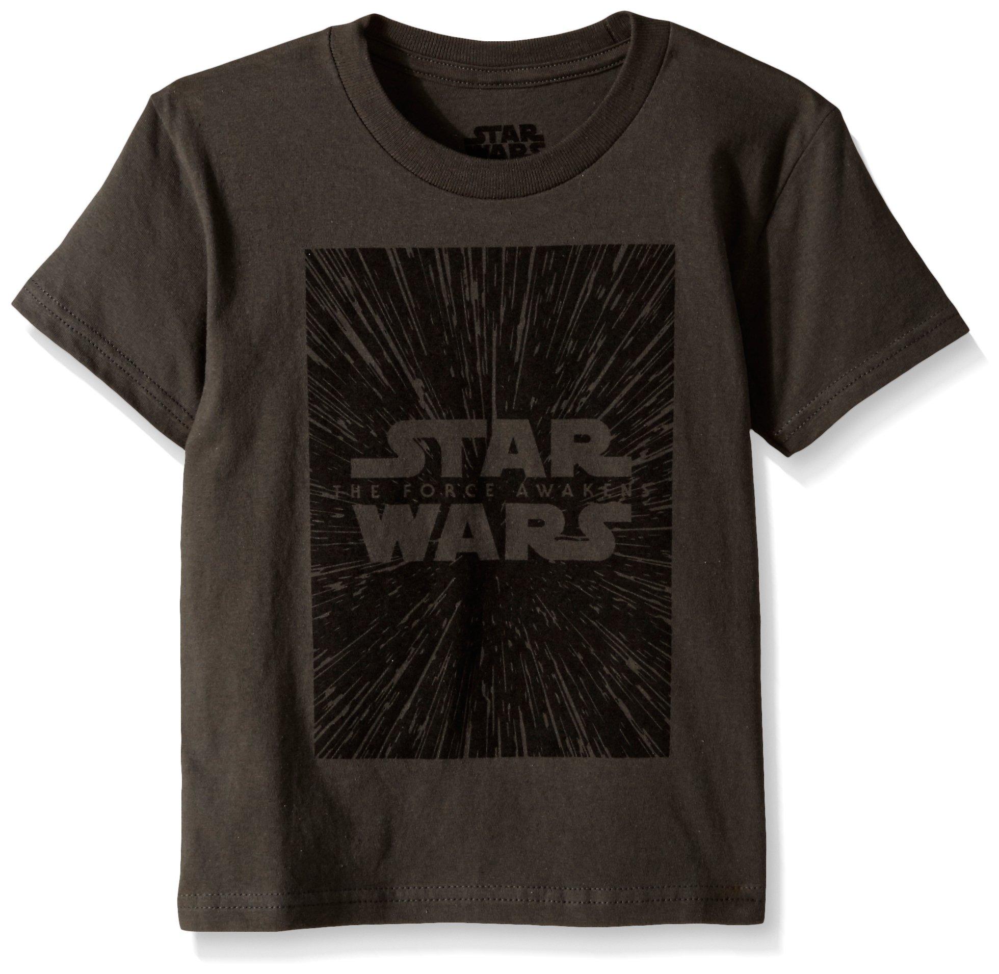 Star Wars Little Boys' T-Shirt, Dark Grey Logo, 4 by Star Wars (Image #1)