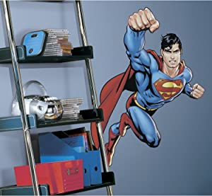 RoomMates RMK1156GM Superman Day Of Doom Peel and Stick Giant Wall Decal,Multicolor,Pack of 1