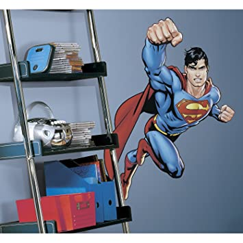 RoomMates RMK1156GM Superman: Day Of Doom Peel And Stick Giant Wall Decal