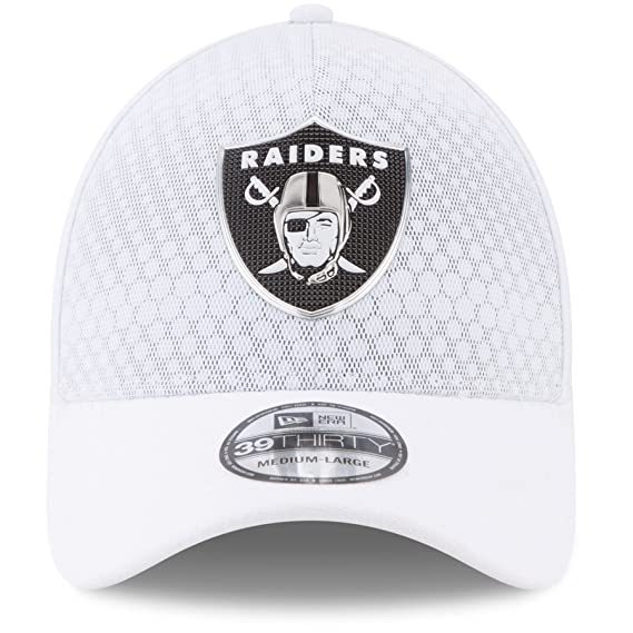 Amazon.com   New Era 39Thirty Hat Oakland Raiders NFL 2017 On Field Color  Rush Official Flex Cap (Small Medium)   Sports   Outdoors 84ce215acdc4