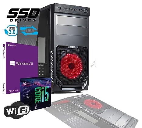 PC Desktop completo Professional de gráfica Studio Intel i5 Six Core i5 – 8400 8th Gen Up Turbo 4,0 ghz tarjeta gráfica integrada Intel Graphics 630 4 ...