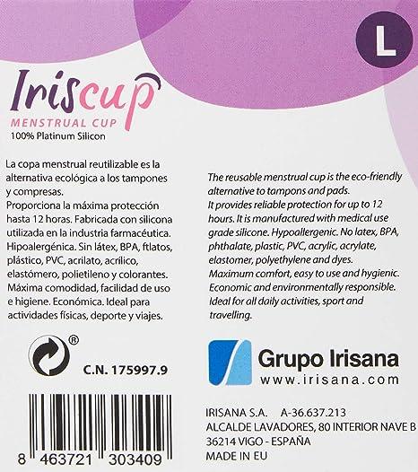 Irisana Copa Menstrual, Talla L - 1 Unidad
