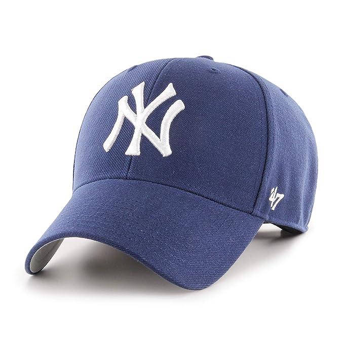 Gorra curva azul marino claro de New York Yankees MLB MVP de 47 Brand - Azul marino, Talla única: Amazon.es: Ropa y accesorios