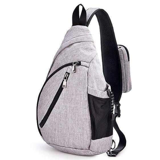 Amazon.com | Sling Bag, GRM Canvas Small Travel Backpack Crossbody ...