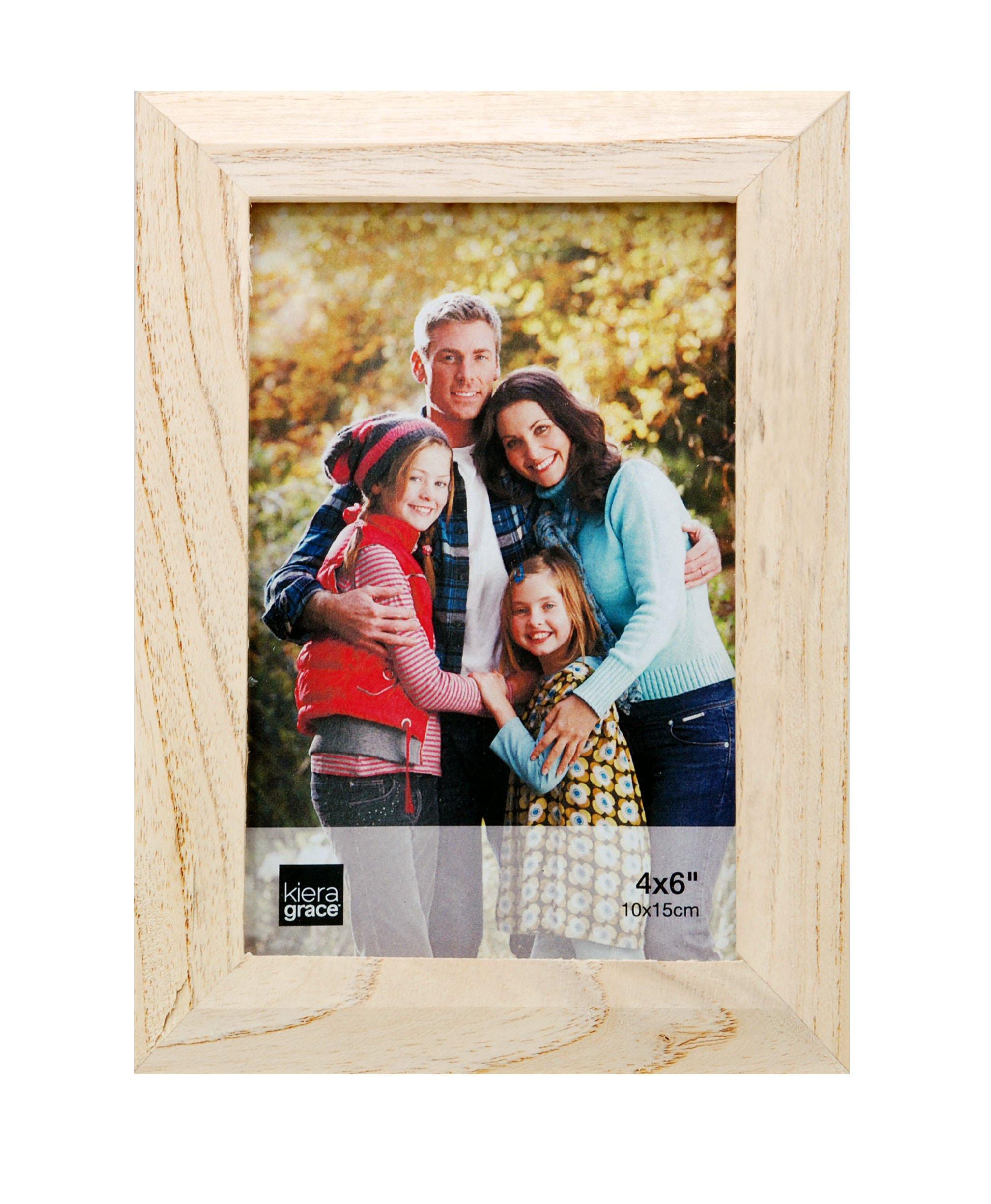 Kiera Grace Turner Wood Grain Picture Frame, 4  by  6 Inch, Oak